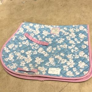 Flower Print Joules full size AP saddle pad